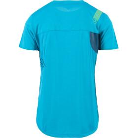 La Sportiva Workout Bluzka z krótkim rękawem Mężczyźni, opal/tropic blue